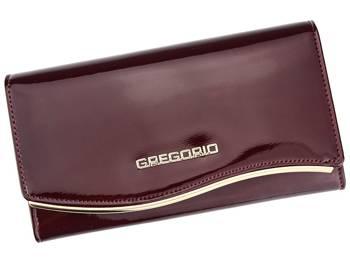 Gustowny duży damski portfel skórzany Gregorio