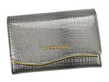 Piękny ozdobny damski portfel skórzany Gregorio