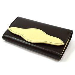 Portfel Elkor e001zamek czekoladowy/kremowy