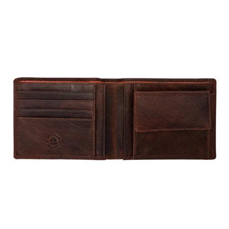 Pojemny męski portfel skórzany Nuvola Pelle