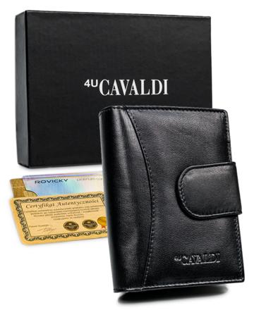Portfel damski skórzany RFID stop Cavaldi® skóra