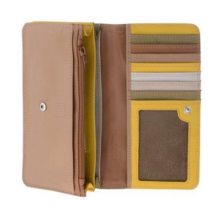 Stylowy kolorowy duży damski portfel skórzany DuDu